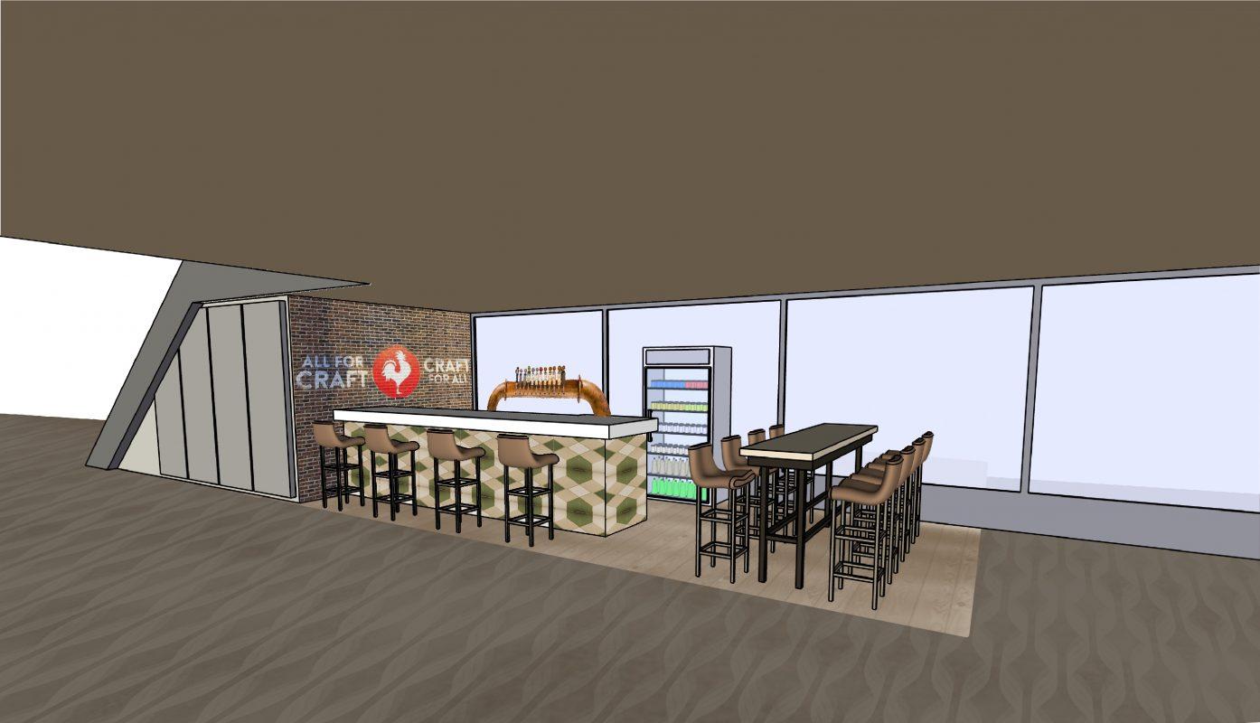 bar room 3d rendering