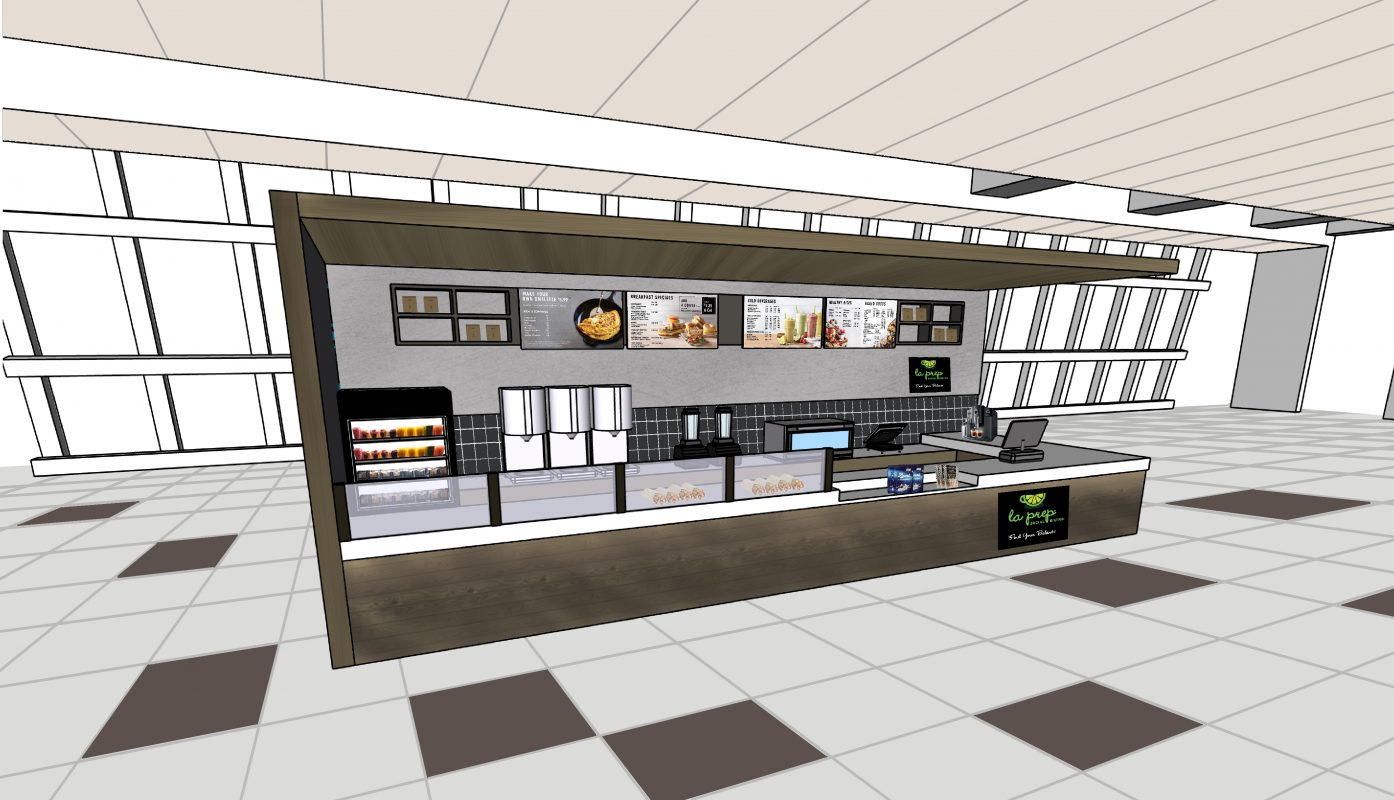restaurant concept 3d rendering interior