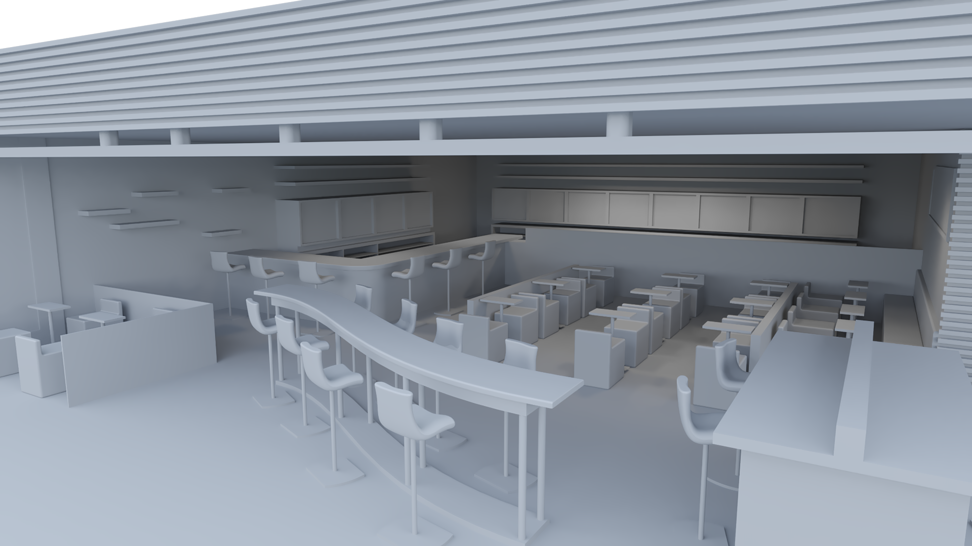 interior bar rendering