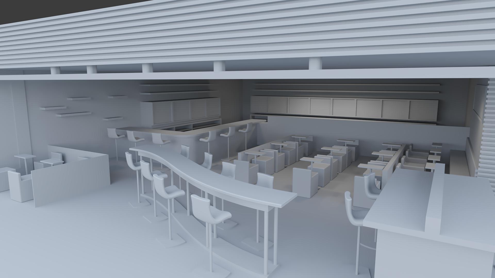 interior bar rendering