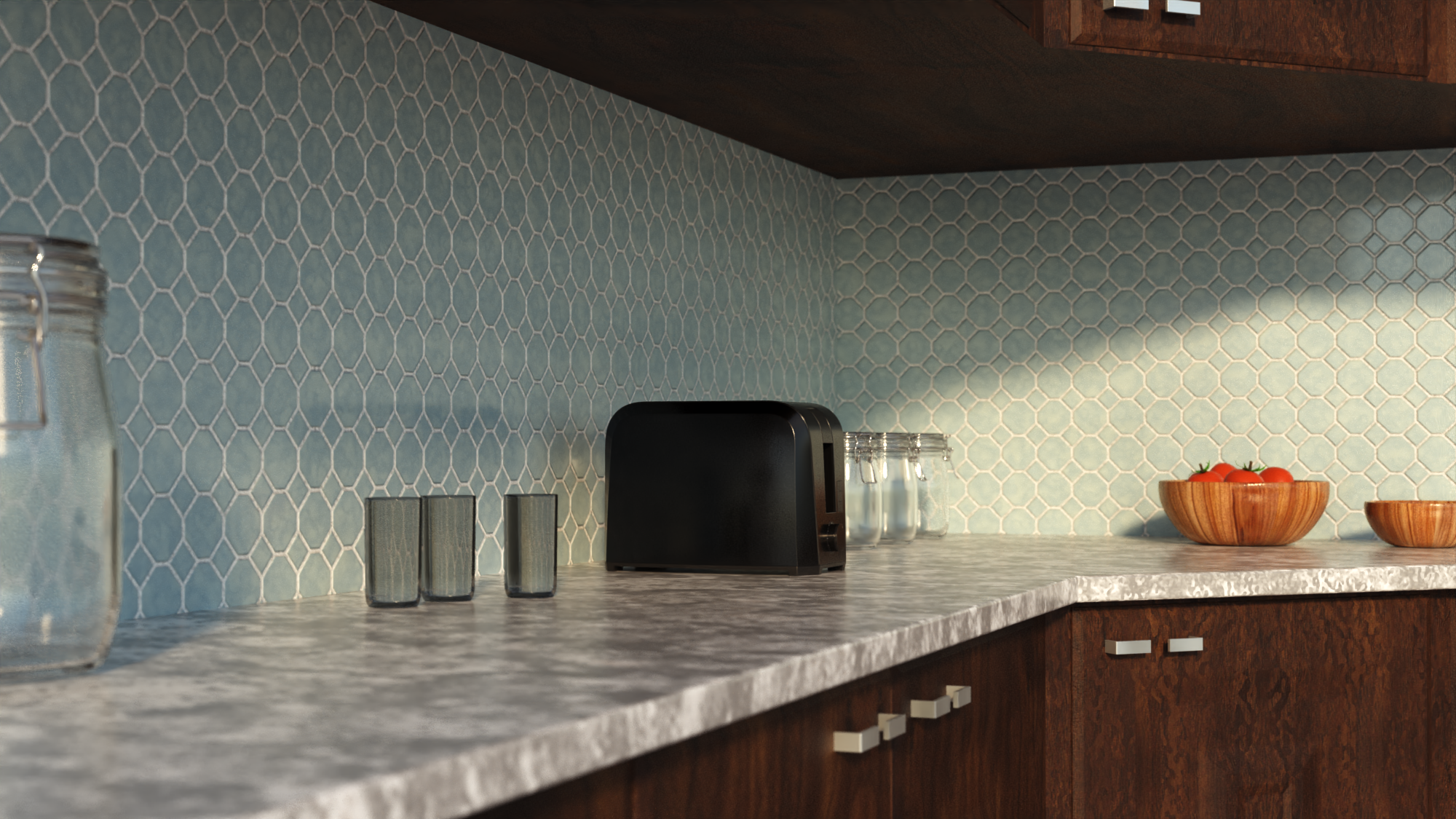 kitchen renovation 3d rendering 2