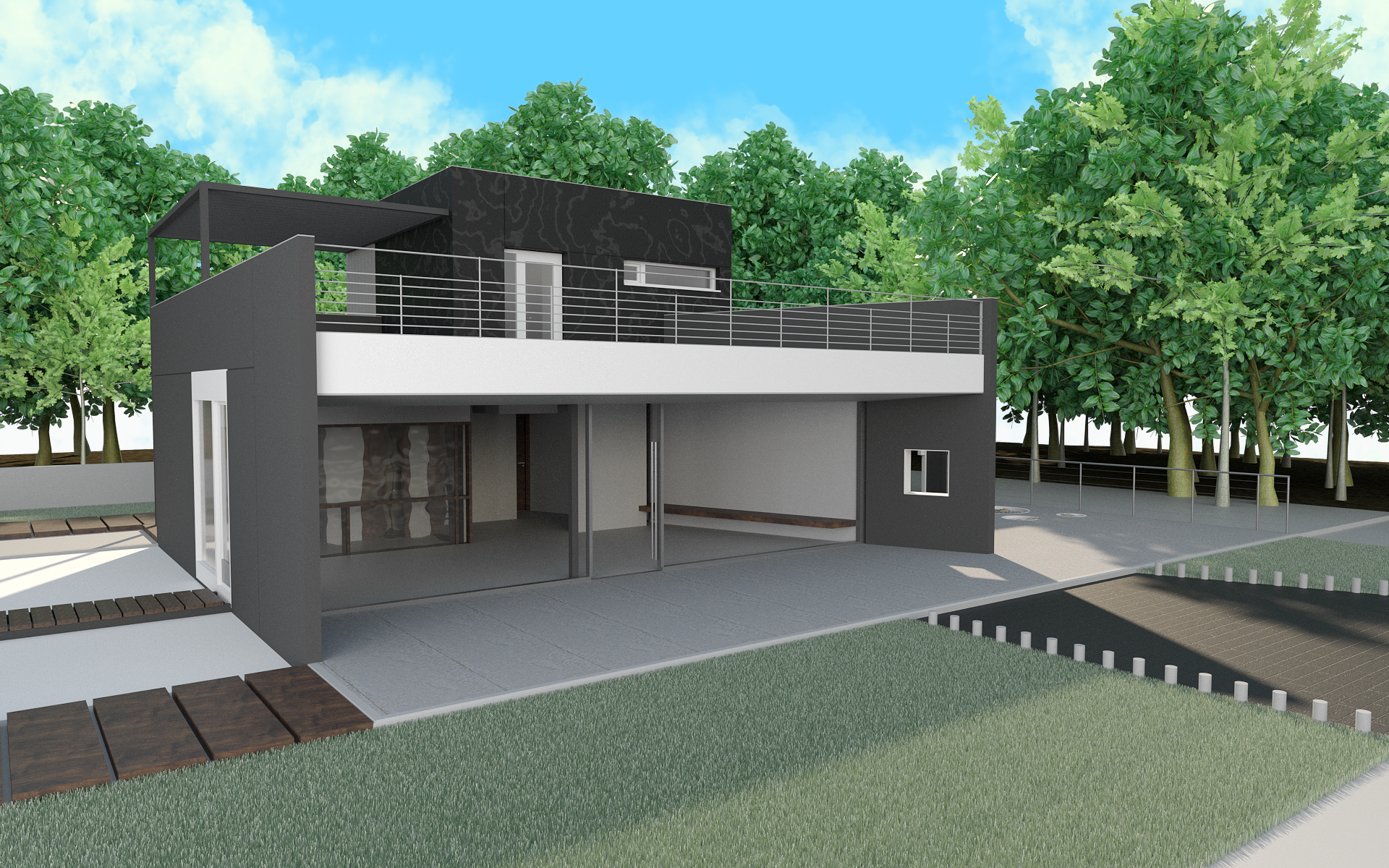 3d rendering exterior house kingston ontario 2