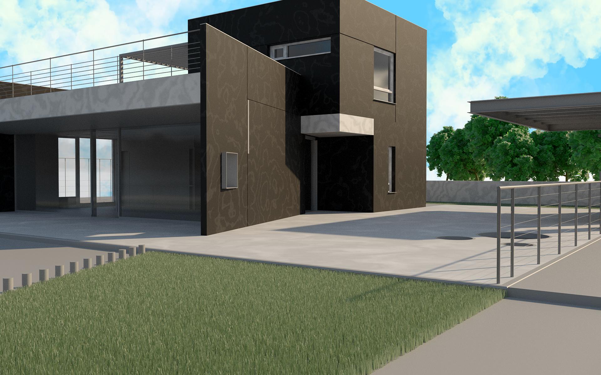 3d rendering exterior house kingston ontario